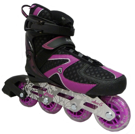 firefly f700 damen inline skates inliner schwarz lila. Black Bedroom Furniture Sets. Home Design Ideas